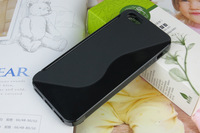 Free shipping**600pcs/lot** High quaity Anti-slip case with S line TPU case for iphone 5 5G