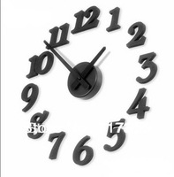 New Free Shipping DIY Black,Wall clock,DIY clock,Ornamental Clock   670108