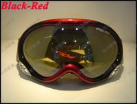 Hot sale Dual PC lens POLISI eyewear anti-fog & Anti-Scratch coating coolest ski / riding goggles 018-2