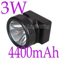 3W 15000Lx LED Miner Headlight Cordless Mining Cap Lamp Wholesale