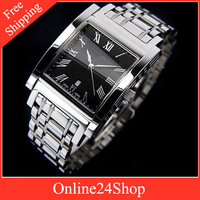 New arrived Mens watches BU1555 BU 1555 men square Heritage Collection Stainless Steel+Free shipping