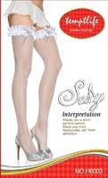 Сексуальные женские шелковые кружева верхней Луки бантом бедро высокие чулки, плотно чулки h6012