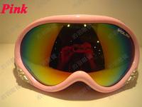 Free shipping Dual PC lens POLISI eyewear anti-fog & Anti-Scratch coating coolest ski / riding goggles 018-1