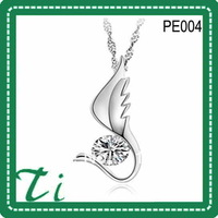Free shipping free chain new year gift   925 silver stone pendants
