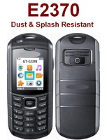Original Unlocked E2370 Dust & Splash Resistant Mobile Phone IP54 Certified  Camera Bluetooth MP3 MP4 FM  +Free shipping