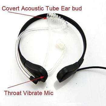 10pcs Throat Mic Air Tube Headset for YAESU 2R 3R VX-150/210A Walkie talkie two way CB Ham Radio C0013A  Fshow