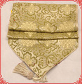 1pcs Free shipping Good quality Chinese 100% Silk Damask Extra Long 120 inch  Table Runner
