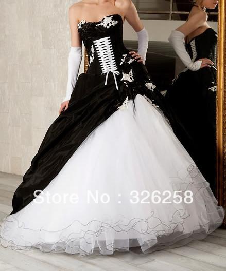 Aliexpress Buy VowsBridal New White Black Princess Quinceanera Dresses Prom Ball Bridal