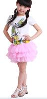 children's bitter fleabane bitter fleabane skirt girl's waist skirt dance skirt children's wear gauze  free shipping