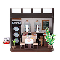3D paper model - cute Japanese chalet - a full set of 20 models - Western Restaurant