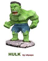 3D three-dimensional paper model-HULK Hulk