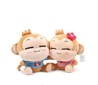 Wholesale YoCi monkey plush toy , YoCidoll, lovers doll ,baby toys, Free shipping by chinapost, 6pcs/lot