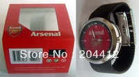 ARSENAL FC SOCCER FASHION WRIST WATCH black band