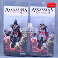 Free Shipping Assassins Creed 2 EZIO Action Figures Black & White1pcs