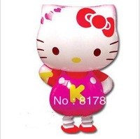 50pcs/lots free shipping wholesale Hello kitty walking pet balloons Helium balloons Children toys/AJ-001