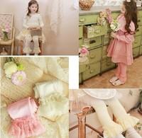 Girl fashion summer Lace leggings,Child Lace leggings,Kid Rose Ninth pants,flower Baby legging Wholesale Free shipping 5 pcs/lot