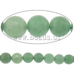 Natural Green Aventurine Beads, Round, machine faceted, 14.00mm, Hole:Approx 2mm, Length:15 Inch, 5Strands/Lot, Sold by Lot(China (Mainland))
