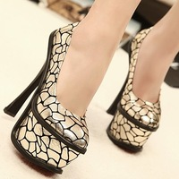 High-heeled shoes 16cm platform single shoes women's shoes 2013 spring princess model shoes