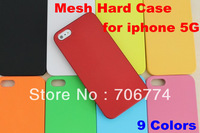 free shipping 200pcs/lot Hard Rubber dream Mesh Case For Apple iphone 5 5G 5th Free Shipping