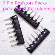 YXS 7-pin 1k Ohm resistors packs A07-102 2.54mm pin pitch(China (Mainland))