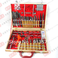 Free shipping NEW quality Pro 80 Pcs Vegetable Fruit Carving Chisel Tool, Chef Kit