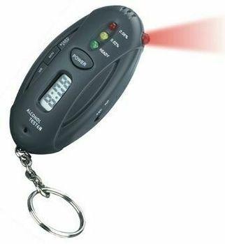 Alcohol Tester Breathalyzer Timer LED Light Keychain #K