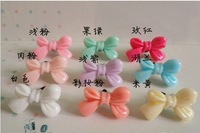 Free shipping 3.5mm Candy Color Bowknot Dust Plug Colors Mix 50pcs/lot! for Headphone Beautiful