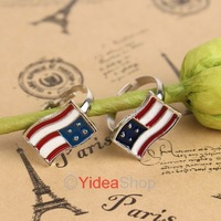 Wholesale - 22pcs Fashion Hot Sale Cluster Rings Enamel Cute Crystal Flag Design Finger Rings 260890