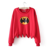 Wholesale cheap batman clothes Female jagg sweep sweatshirt 3 loop pile vigogne ring sweatshirt free shipping