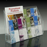 New clear acrylic brochure holder