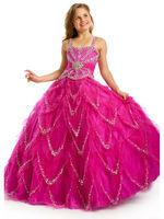 New style beads flower girl dress
