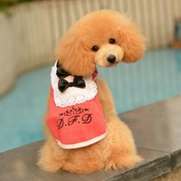Pet  autumn and winter lace collar clothing