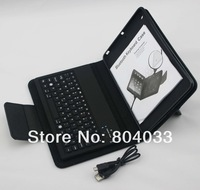 Bluetooth Keyboard For iPad Mini Black stand PU Leather Case with Detachable Wireless Keyboard for 7.9'' Tablet, Free shipping