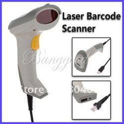 White XYL-8802 Durable USB Long Scan Laser Barcode Scanner Handheld Bar Code Reader, Retail Package, Free Shipping(China (Mainland))