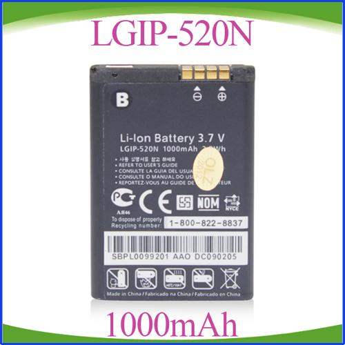 Freeshipping 50pcs/lot High Quality LGIP-520N LGIP520N Battery For LG BL40 Chocolate 2II GD900 Crystal WG505(China (Mainland))