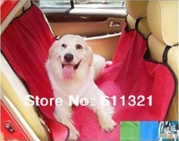Free Shipping Cradle Dog Car Rear Back Seat Cover Pet Mat Blanket Hammock Waterproof Cushion Protector 53x53inch V3435