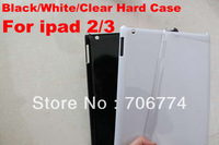 Hot Sale Glossy Clear Crystal Plastic Hard Back Case Skin Cover Protector for Apple iPad 2 3 Gen free shipping 50pcs/lot