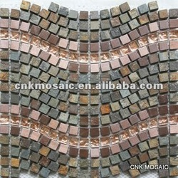 SGW210W 15*15 Mix Color Wave Pattern Stone Mosaic(China (Mainland))