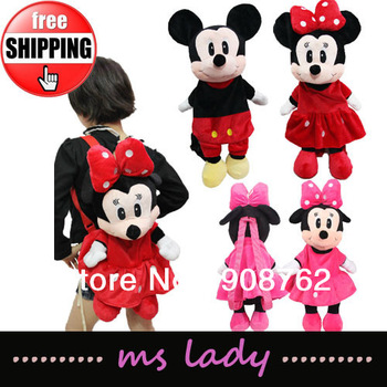 Free shipping!! Baby cute bags,minnie backpacks,baby girls kindergarten bag HK Airmail
