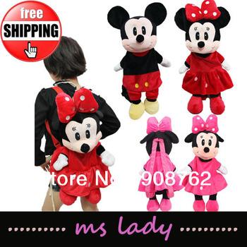 Free shipping!! Baby cute bags,minnie backpacks,baby girls kindergarten bag HK Airmail