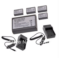 Free shipping new High Quality 5 piece BLN-1 BLN1 BCN-1 Batteries with 2 charger For Olympus OM-D E-M5 EM5