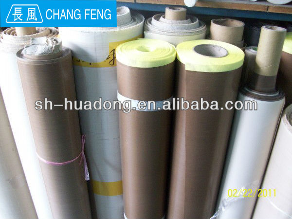 PTFE fabric /Teflon/ PTFE coated fiberglass adhesive fabric/ oven liner(China (Mainland))
