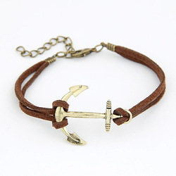 Min.order is $10 (mix order) B028 Fashion Korea personality Anchor bracelet bangle jewelry!Free shipping!! cRYSTAL sHOP(China (Mainland))