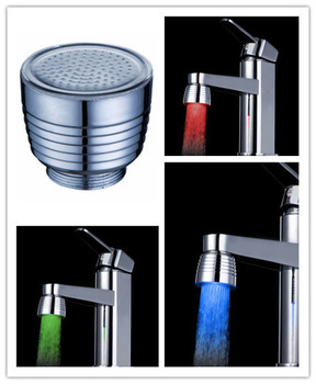Good price+high quality new Hydroelectric power LED Faucet light temperature sensor control 3 color change tap