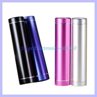 Metal 2600mAh Power Bank External Battery Charger for iPhone HTC Samsung Nokia Lenovo