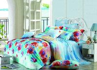 new arrivals cotton red blue rose floral flower pattern hot sale 4pcs queen/full bedding sets comforter/quilt/duvet covers