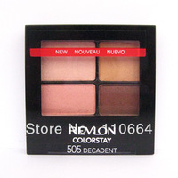#4325 Exported quality 16 hours non diseoloutation four-color eye shadow with eye shadow brush