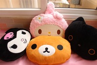 5design san-x plush figure rilakkuma my melody leopard hello kitty SKULL CUSHION pillow cotton air conditioning BLANKET skeleton