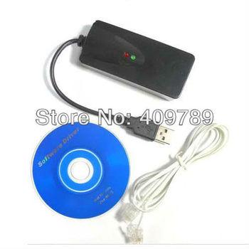 30pcs/lot By Fedex/DHL Free For Win8/Win7 2 Port Fax Modem Usb External 56k Modem