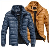 F253 male slim hot-selling stand collar leather wadded jacket cotton-padded jacket thermal fashion popular cotton-padded jacket